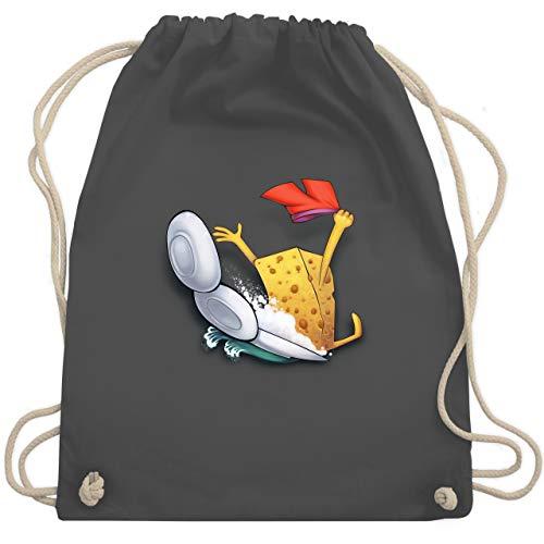 Comic Shirts - Spülschwamm - Wasserrutsche - Unisize - Dunkelgrau - Geschenk - WM110 - Turnbeutel und Stoffbeutel aus Baumwolle