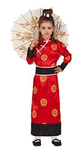 Guirca Kimono Orient Kostüm für Mädchen - Größe 98-146 - Kinder Fasching Karneval, Größe:128/134