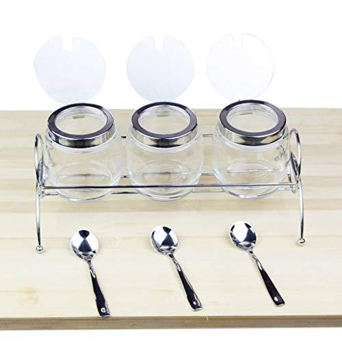 MYPNB Tanque de condimento Vinagrera de Cristal del condimento Caja con una...