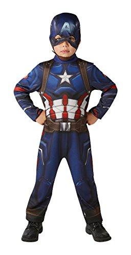 Rubie's-déguisement officiel - Marvel- Déguisement classique Civil War Captain America - Taille M- I-620678M
