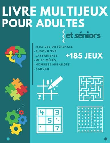 Livre Multijeux pour adultes et séniors: Cahier d