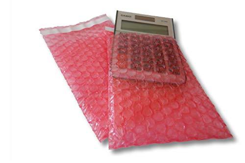 Luftpolsterbeutel Jumbokarton mit 2000 Stück Inhalt [antistatisch] 120 x 160 mm mit selbstklebender Klappe 50 mm super stabile 80 my 3 lagige Folie pink/rosa