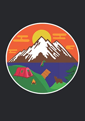 Notizbuch A5 liniert mit Softcover Design: Camping Outdoor Zelt Zelten Van Life Berge See Meer Sonne: 120 linierte DIN A5 Seiten