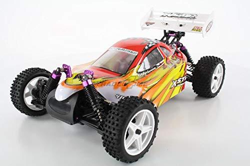 HSP Buggy XSTR Rot 1:10 4WD RTR 94107/10704 | Fahrfertiges 1:10 Offroad RC-Car | 2.4 Ghz Sender | Ladegerät mit 0,8A Ladestrom | Fahrakku | Fahrtregler 45A | Allradantrieb | Länge ca. 370mm | Breite ca. 245mm | Höhe ca. 130mm | Radstand ca. 275mm*