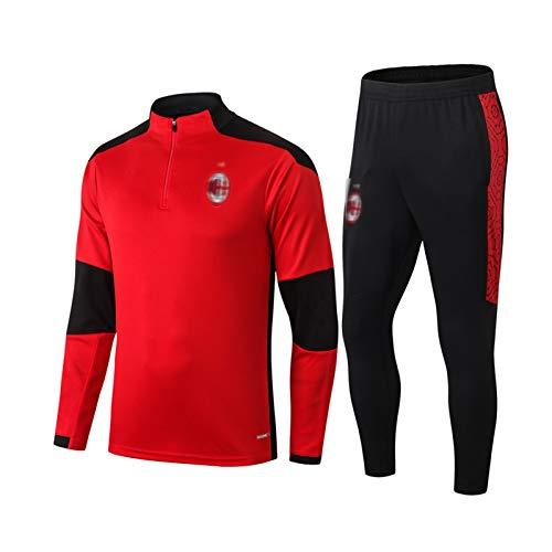 HPPH Mǐlǎn MǎLDǐNǐ 2021 Jersey de Entrenamiento de fútbol Jersey Soccer Tacksuit Pantalones Set Uniform Competition Traje Sudadera Concurso Traje de Manga Larga, Ejercici XXL