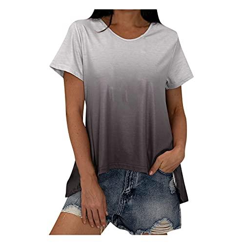 Alphahope Lässige Farbblock-Langarm-Pullover für Damen mit lockerem, leichtem Tunika-Shirt Tops für Frauen Sexy Casual Weiße Kurzarmbluse