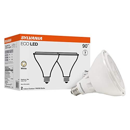 Sylvania LED PAR38 100W Equivalent, Efficient 14W, Color Temperature 3000K, 2 Pack, White