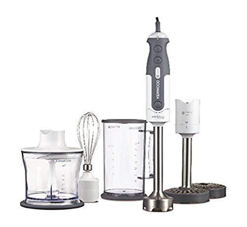 Kenwood HDP404WH Mixer ad Immersione, 800 W, Tritatutto da 0,5 l, Bicchiere graduato da 0,75 L, Plastica, Bianco