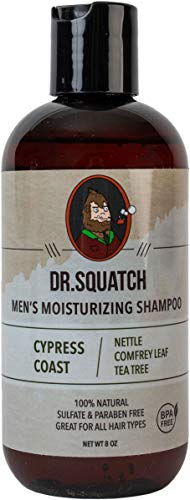 Dr. Squatch Natural Men's Shampoo – Keep Hair Looking Full, Healthy, Hydrated – Naturally Sourced Moisturizing Organic Tea Tree Oil Shampoo for Men