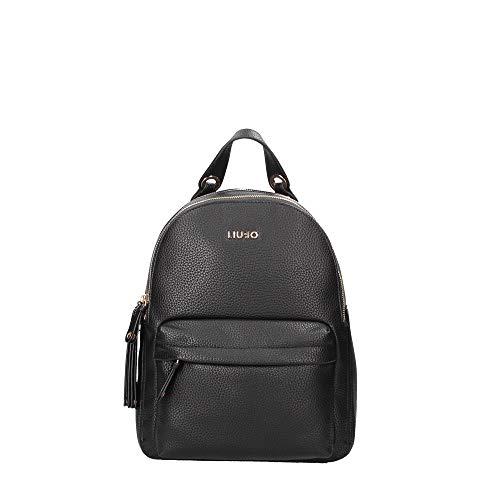 LIU JO Tene Backpack M, Zaino Elegante Donna, Nero