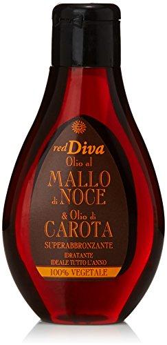 red Diva - Superabbronzante Idratante, Olio al Mallo di Noce e Olio di Carota - 100 ml