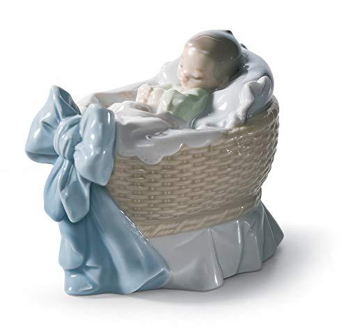 LLADRÓ A New Treasure Boy Figurine. Porcelain Baby Figure.
