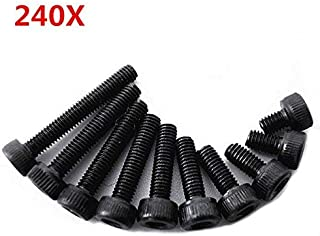 Accessories BRT M3 8mm 10mm 12mm 14mm Screw Steel Class 10.9 20pcs//Bag M3x8mm M3x10mm M3x12mm M3x14mm Screws Color: M3x12mm