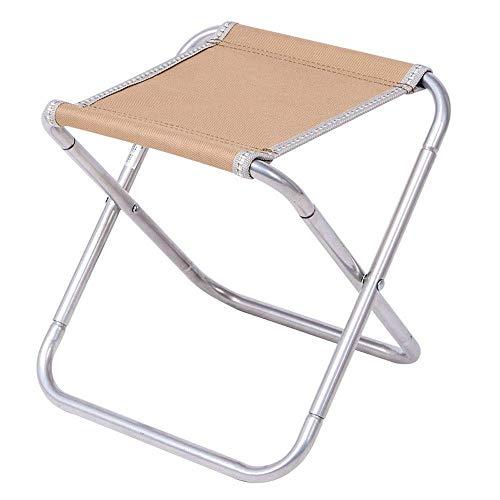 YLCJ draagbare klapstoel, campingstoel, strijkijzer | Oxford Fabric Chair, kaki | Blauw, geschikt voor vrije tijd | Camping | Barbecue | vissen | strand | schets, 25,5 x 23,5 x 25 cm Khaki-Silver