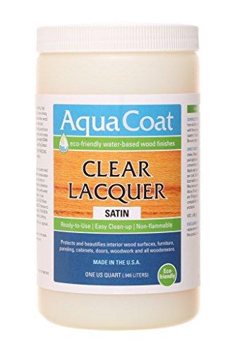 AQUA COAT Clear Lacquer, Water-Based Wood Finish (Gloss)