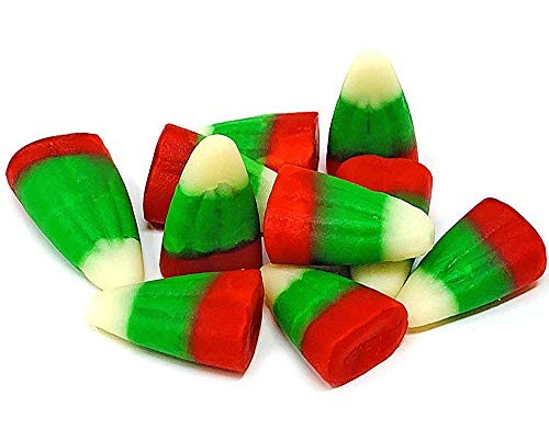 SweetGourmet Holiday Candy Corn Red, White & Green   Reindeer Corn   Bulk Christmas Candy   2.5 pounds