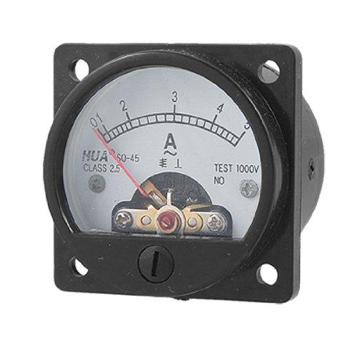 Klasse 2,5Genauigkeit AC 0–5A Runde Analog Panel Meter Amperemeter schwarz de