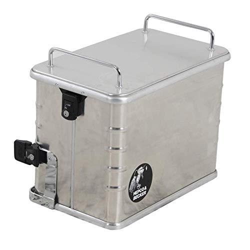 H&B Zubehör Motorrad-Topcase Alukoffer Standard 40 (40 Liter) Linke Seite, Unisex, Tourer, Sommer, Aluminium, Silber