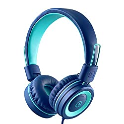 top rated Children's Headphones-No Product K11 3.5 mm Socket, Tangleless Folding Stereo System with Cable to Ears … 2021