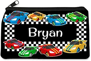Personalized Children's Pencil Case by Dinkleboo. These Cool Pencil Cases for Kids Make The Perfect Back to School Pencil Case to Keep Pens, Pencil and Erasers Organized. (Race Cars)