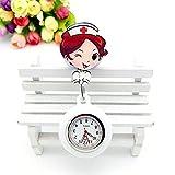 Cxypeng Reloj Broche Bolsillo Enfermeras,Dibujos Animados Silicona telescópica Enfermera Colgando Reloj Doctor Cofre Mesa Estudiante Mesa-Azul Marino,Enfermera Broche de Reloj