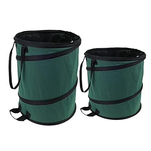 RTMX&kk 2 Bolsas De Basura De Jardín Professional Resistentes Al Agua, Grandes Bolsas De Basura con Asas, Plegables Y Reutilizables para Hojas Plantas Podadas Etc