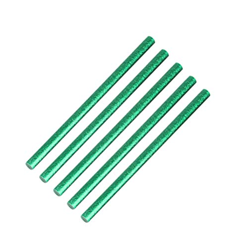 Artibetter 100 Stks Hot Lijm Sticks Glanzende Hotmelt Lijm Staven Lijm Sticks Diy Lijm Sticks Voor Crafting Art Projecten (Groen 7X100mm)