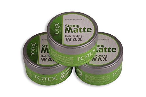 TOTEX Hair Styling Wax Strong Matte 150 ml (3 Stück) Haarwax - Haarwachs