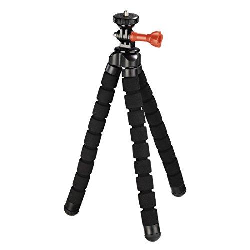 Hama Flexibles 2in1 Stativ 26cm (für Kameras und GoPro Action-Cams, Octopus-Stativ für 1/4-Zoll-Gewinde, 360 Grad beweglich, Reisestativ, Tripod, Kamerastativ)