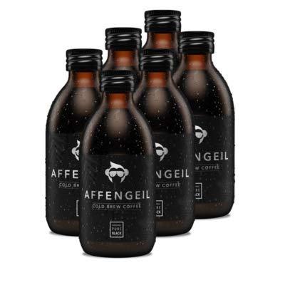 Affengeil Cold Brew Coffee - Pure Black | Kaffee Kaltgetränk | vegan | zuckerfrei | natürliches Koffein | 250 ml | 6 Stück (Pure Black)