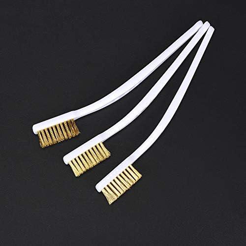 N O Bigtreetech 3D Printer Cleaner Tool Copper Wire Toothbrush 3pcs Cleaner Copper Wire Brush product image