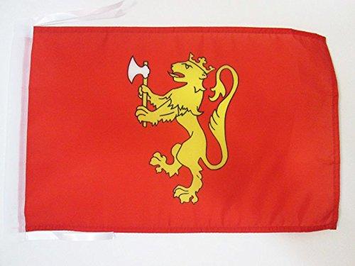 AZ FLAG Bandera del ESTANDARTE Real DE Noruega 45x30cm - BANDERINA Reino Noruego 30 x 45 cm cordeles