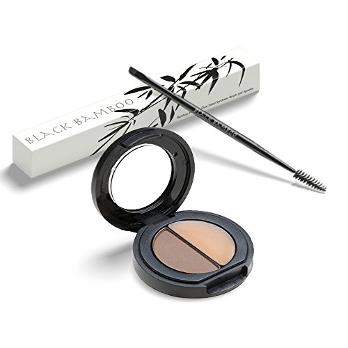 Eyebrow Makeup Kit with Dual Angled Brush Brow Color & Wax Kit for All Eyebrow Shades - Create Naturally Gorgeous Brows in Minutes