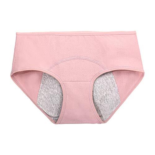 Bragas Menstruales Absorbentes Braguitas Mujer Prevenir Fugas Laterales Braguitas Menstruales Los Suaves Bragas Menstruales CóModo Pink,X-Large