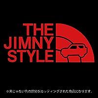 ジムニー 3代目JB23/JB33/JB43系ステッカー THE JIMNY STYLE【カッティングシート】パロディ(12色から選べます) (赤)
