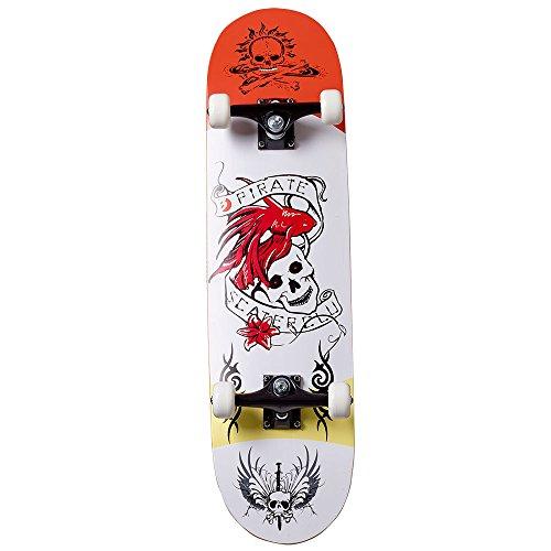 Best Sport Skateboard Pirate Scater Club, Multicolore Unisex-Adulto