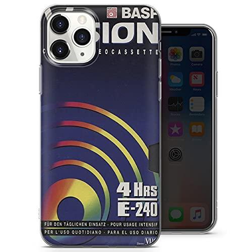 Old VHS Cassette teléfono cassette, funda clásica para iPhone 12 Mini – Delgada Delgada Suave TPU Silicona Bumper – Diseño 5 – A61