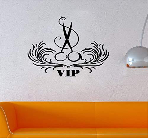 Wandtattoo Schlafzimmer VIP Friseursalon Beauty Friseur Schere Zeichen