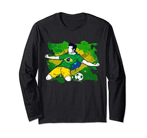 Brazil National Soccer Team Jersey Brazilian Football Gifts Long Sleeve T-Shirt