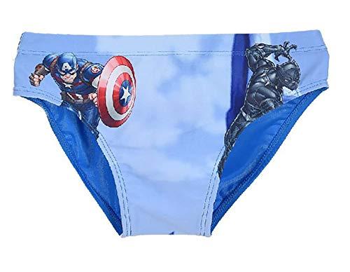 Costume Avengers Hulk e Iron Man Mare Bambino Originale Marvel Slip Bagno da 4 Anni a 10 Anni (4 Anni)