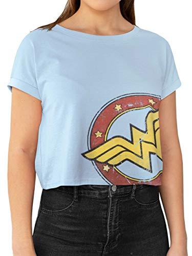Adults Wonder Woman Crop Logo T-shirt, S to XXL