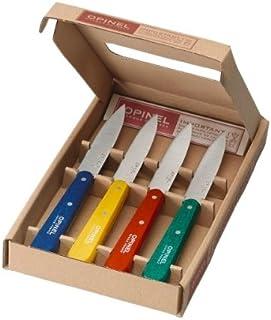 Opinel - Coffret Opinel - 4 Couteaux d'Office n° 112 de Cuisine - Couleur