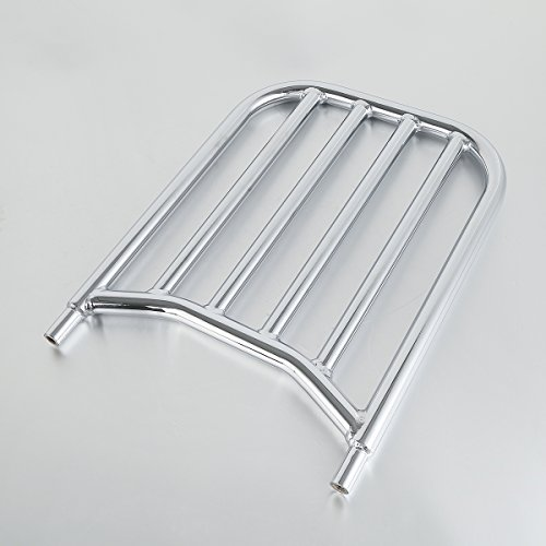 XMT-Moto Backrest Sissy Bar Luggage Rack fits for Indian Chief Chieftain Challenger Springfield 2014-2020,Chrome