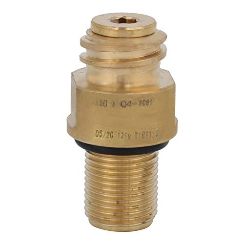 M18 x 1.5 práctico conveniente durable durable CO2 agua de cobre amarillo adaptador de la válvula del adaptador para la industria