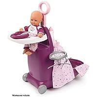 Smoby- Trolley para muñecos, Color Morado (220346)
