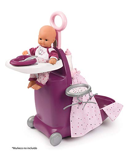 Smoby- Trolley para muñecos, Color Morado (220346