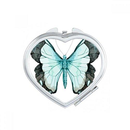 DIYthinker Papillon Rose Collection Coeur Maquillage Compact Miroir de Poche Portable Mignon Petit Cadeau Miroirs Main Multicolor