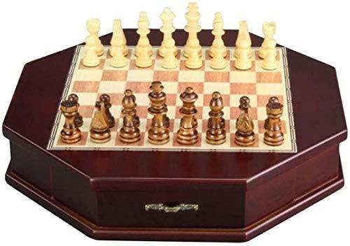 Juego de tablero de ajedrez Staunton Juego de ajedrez 32 piezas / juego Ajedrez de mesa de madera Juegos de ajedrez chino Chessman Navidad Cumpleaños Regalos premium Juego de mesa de entretenimiento J