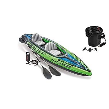 Challenger K2 Kayak, 2-Person Inflatable Kayak (Kayak with Paddles & Pump)