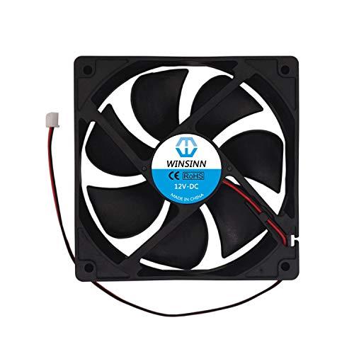 WINSINN Ventilador de 120 mm 12 V sin escobillas 12025 120 x 25 mm para refrigeración de PC carcasa de ordenador de CPU enfriadores de radiadores – 2 pines